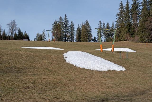 雪の少ないスキー場