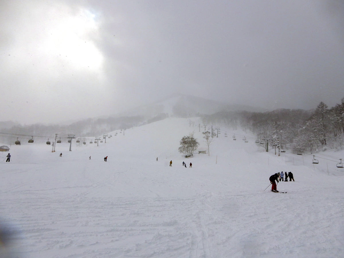スキー場 悪天候