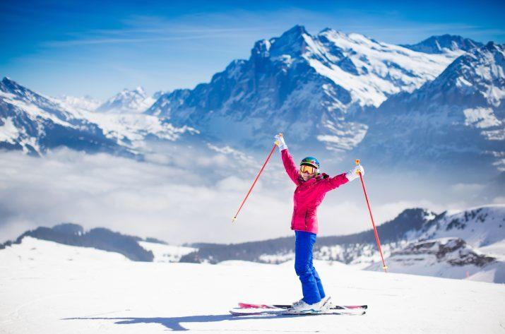 スキー 一人
