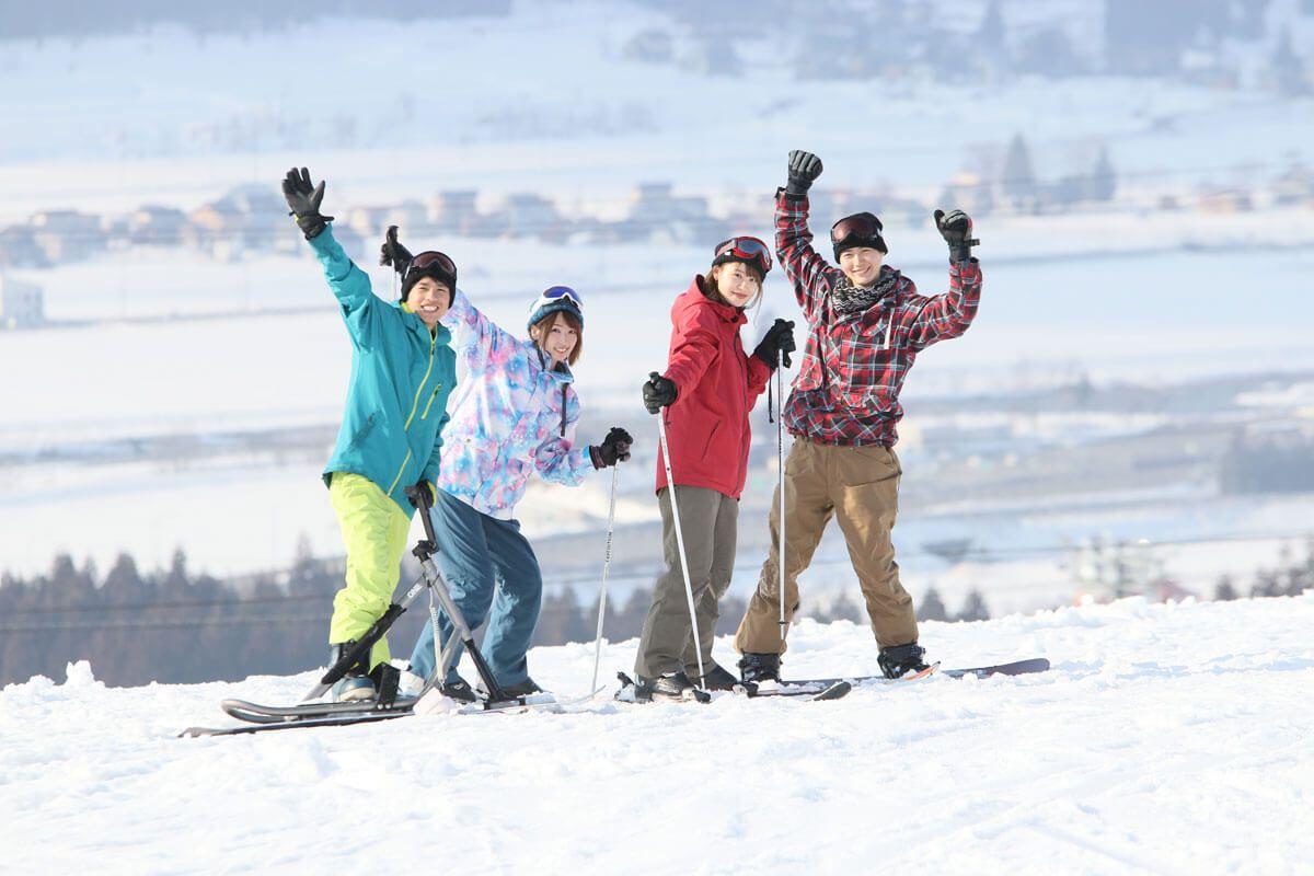 スキー場 自撮り