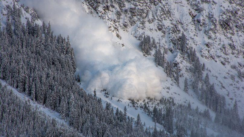 スキー場 雪崩