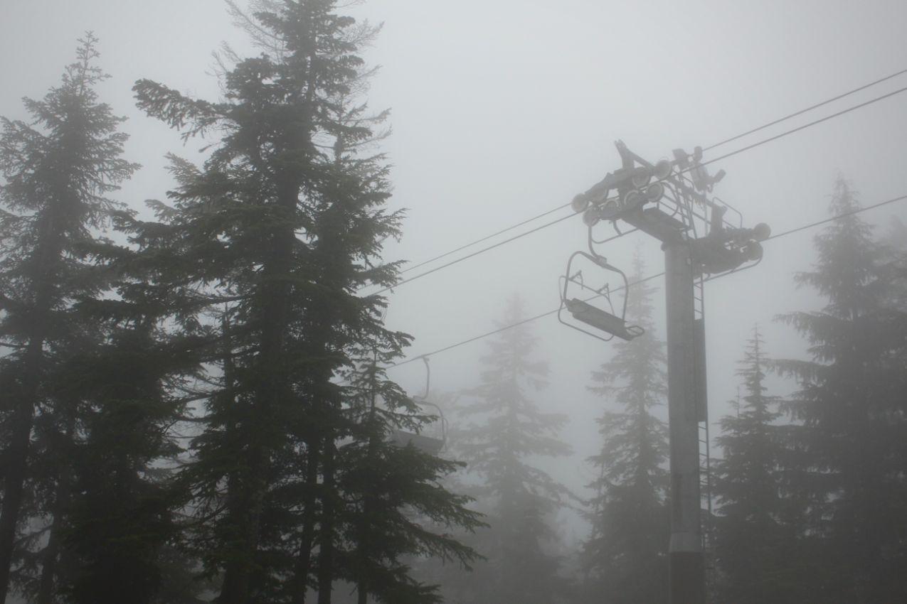 雨の日 スキー