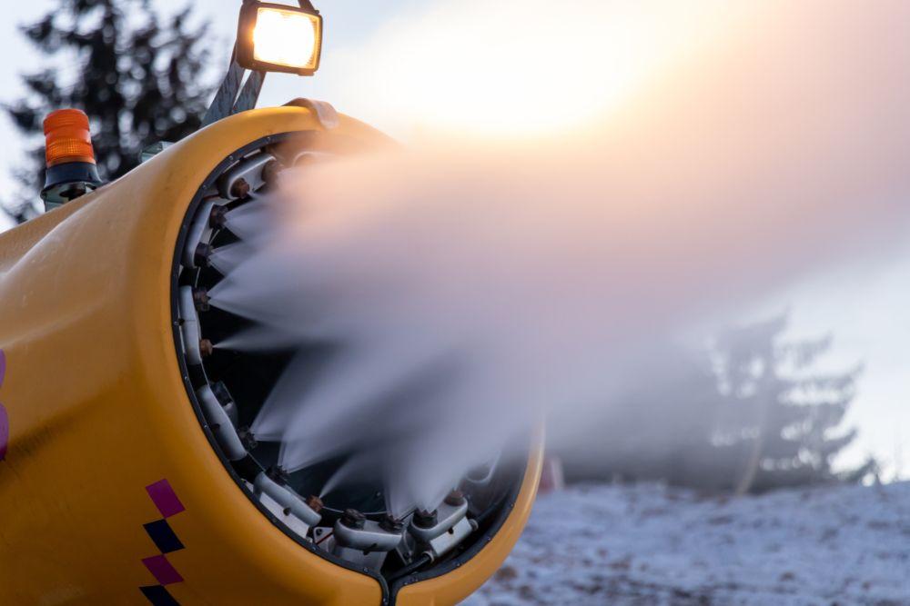 人工雪 スキー場
